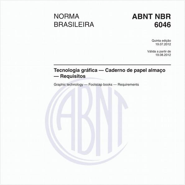 Tecnologia gráfica — Caderno de papel almaço — Requisitos