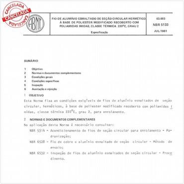 NBR5133 de 07/1981