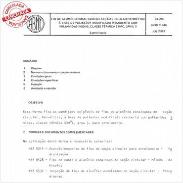 NBR5134 de 07/1981