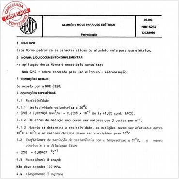 NBR5257 de 12/1980