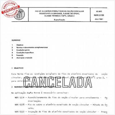NBR5139 de 07/1981