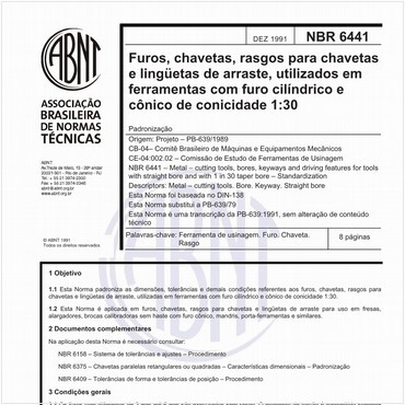 NBR6441 de 12/1991