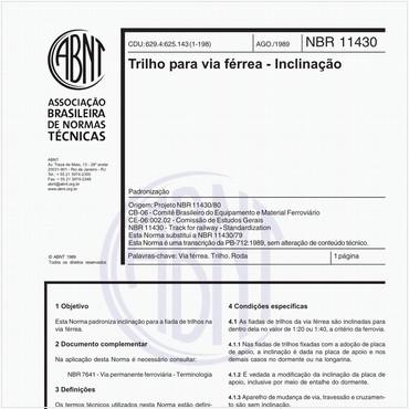 NBR11430 de 08/1989