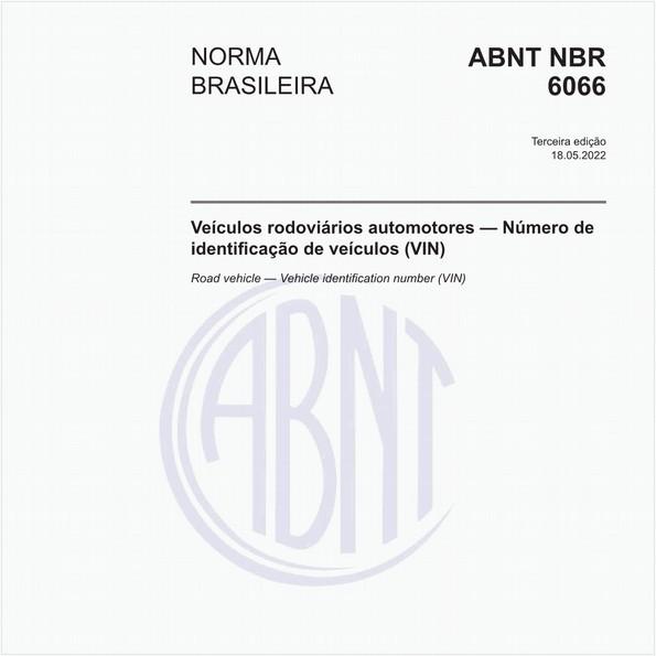 Veículo rodoviários - Número de identificação de veículo (VIN)