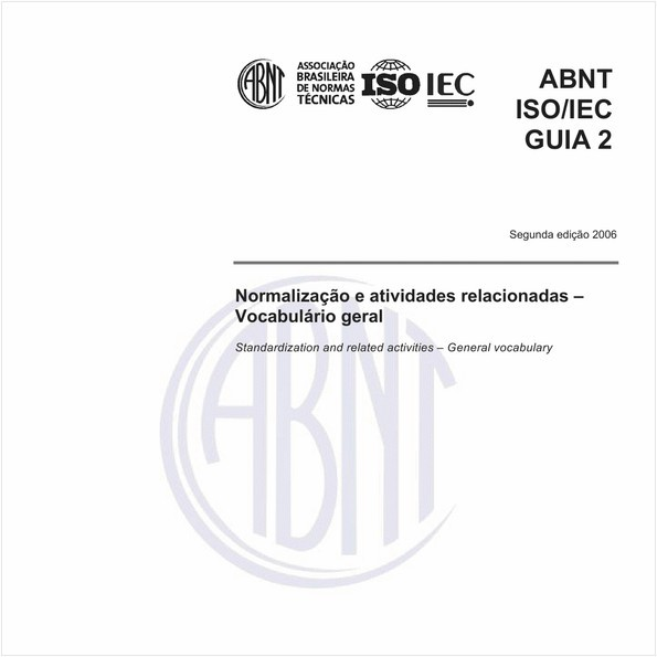 Normalização e atividades relacionadas - Vocabulário geral.
