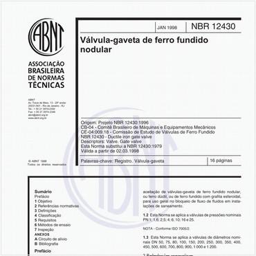 NBR12430 de 01/1998