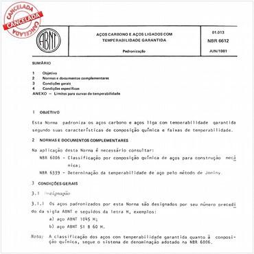 NBR6612 de 06/1981