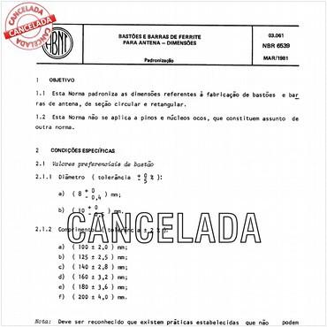NBR6539 de 03/1981