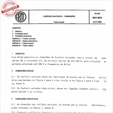 NBR6254 de 10/1988