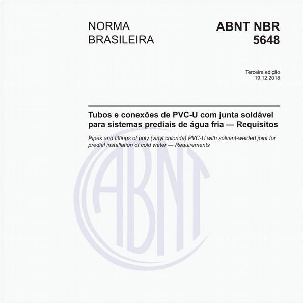 Tubos e conexões de PVC-U com junta soldável para sistemas prediais de água fria - Requisitos