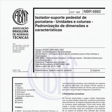 NBR6882 de 10/1998