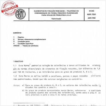 NBR7261 de 04/1982
