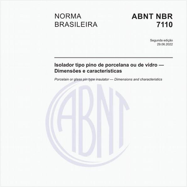 Isolador de pino de porcelana ou vidro - Padronização de dimensões e características