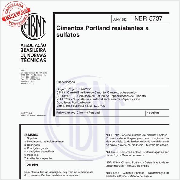 Cimentos Portland resistentes a sulfatos