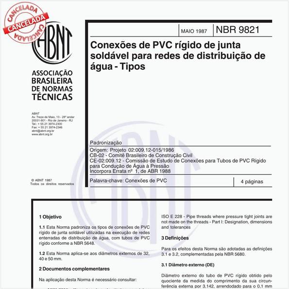 NBR9821 de 05/1987
