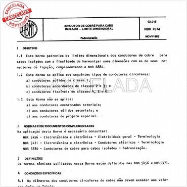 NBR7574 de 11/1982