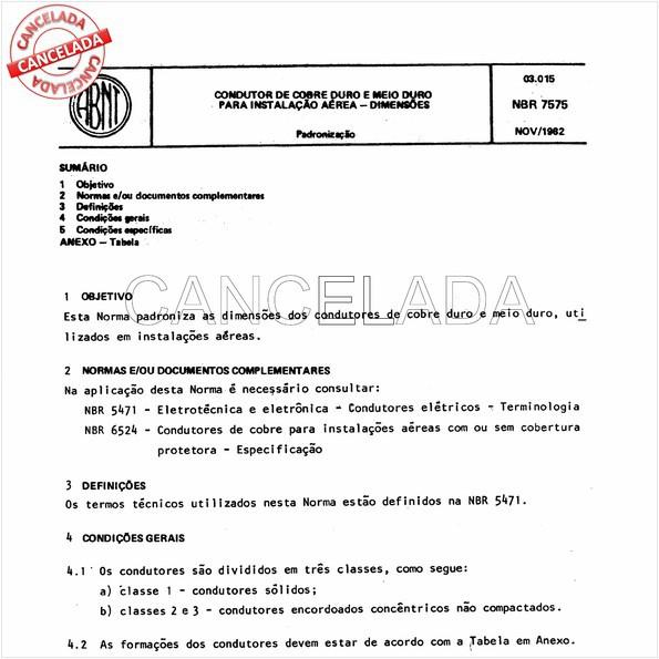NBR7575 de 02/1997