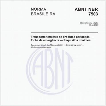 NBR7503 de 06/2020