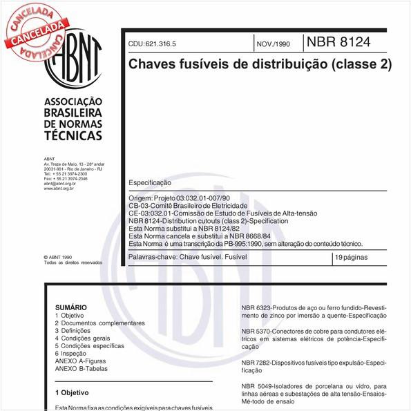 Chaves fusíveis de distribuição (classe 2)