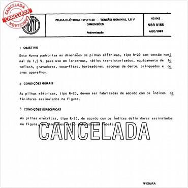 NBR8155 de 08/1983