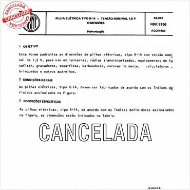 NBR8156 de 08/1983