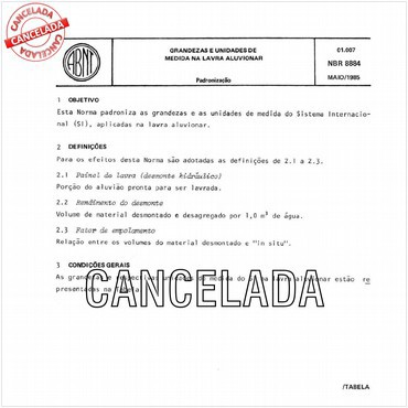NBR8884 de 05/1985