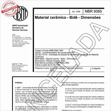 NBR9065 de 07/1998