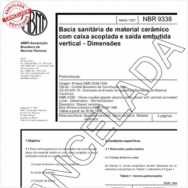 NBR9338 de 05/1997