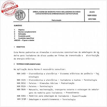 NBR9333 de 04/1986