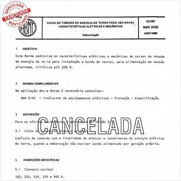 NBR9330 de 04/1986