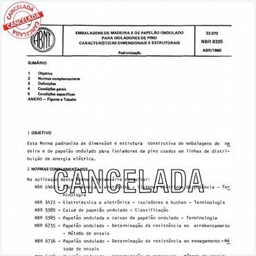 NBR9335 de 04/1986