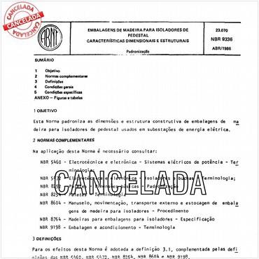 NBR9336 de 04/1986