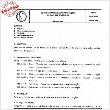 NBR9365 de 05/1986