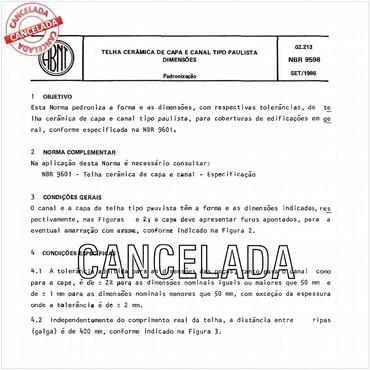 NBR9598 de 09/1986