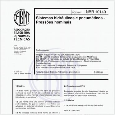 NBR10140 de 11/1987