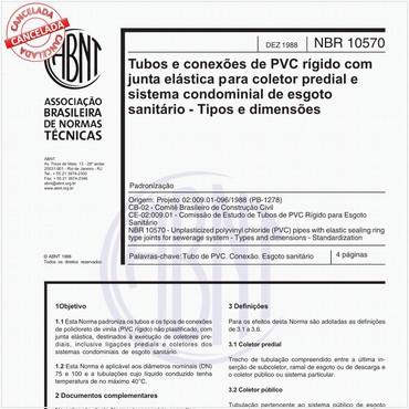 NBR10570 de 12/1988