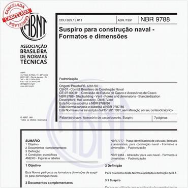 NBR9788 de 04/1991