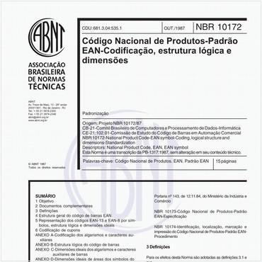 NBR10172 de 10/1987