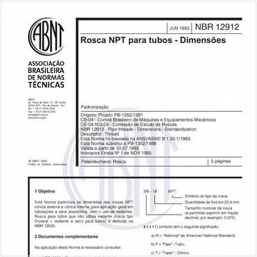 NBR12912 de 06/1993