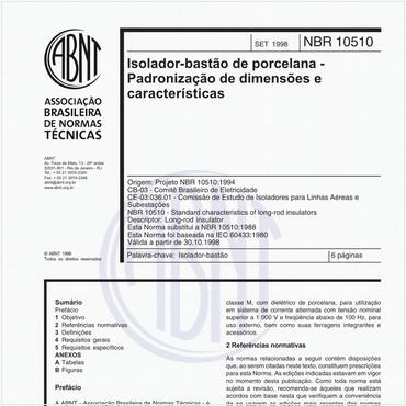 NBR10510 de 09/1998