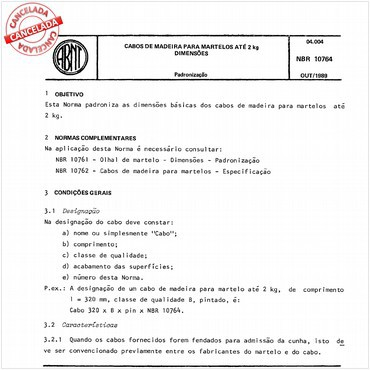 NBR10764 de 10/1989