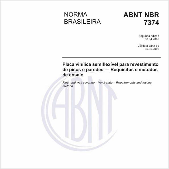 Placa vinílica semiflexível para revestimento de pisos e paredes - Requisitos e métodos de ensaio