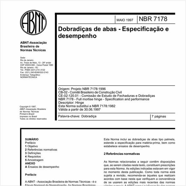 NBR7178 de 05/1997