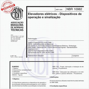 NBR10982 de 04/1990