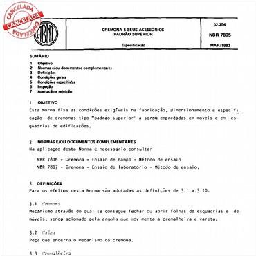 NBR7805 de 03/1983