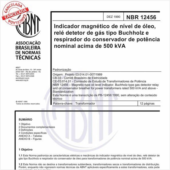 NBR12456 de 10/2012