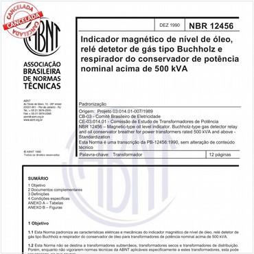 NBR12456 de 12/1990