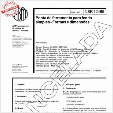 NBR12465 de 04/1992