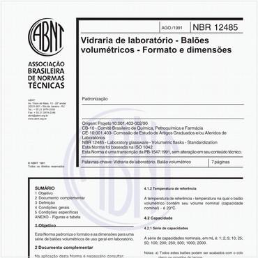 NBR12485 de 08/1991