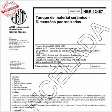 NBR12487 de 05/2000